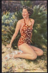 Beautiful Young Lady in Bathing Suit ~ LINEN