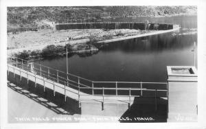 Andrews 1920s Twin Falls Power Dam Idaho RPPC real Photo postcard 329