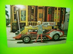 VoxMobile Postcard Electric Guitar Beatnik Hot Rod Car Barris 1960's Groovy Art