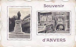 2-Views (Attached Cards), Souvenir d´Anvers, Antwerpen, Belgium, PU-1908