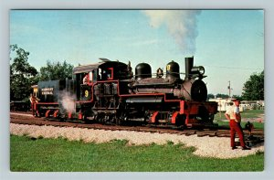 Midwest Central Railroad's Number 9 Train Engine, Chrome Postcard