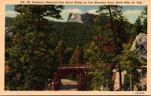 South Dakota Black Hills Mount Rushmore Memorial From Spiral Bridge On Iron M...