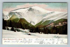 Mount Washington NH-New Hampshire In Winter Vintage Postcard