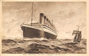 White Star Line RMS Olympic Oceanliner Ship Unused