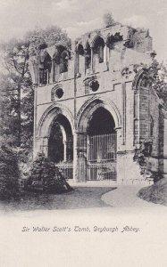 MIDLOTHIAN, Scotland, 1900-1910s; Sir Walter Scott's Tomb, Dryburgh Abbey