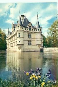 Postcard Chateaux Castle Loire Az le Rideau Paris France # 3643A