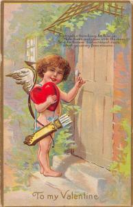 E67/ Valentine's Day Love Postcard c1910 New Middletown Ohio Cupid 23