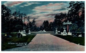New Jersey  Lakewood , Georgian Court ,  The Fountain Path