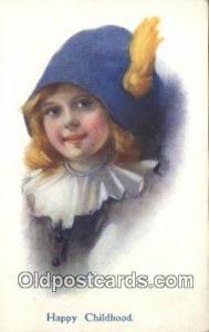 Artist C.W. Barber Signed Artist Unused