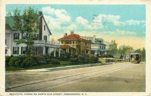 NC, Greensboro, North Carolina, North Elm Street, Tichnor No. A-88570