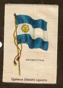 TURN OF CENTURY CIGARETTE SILK -ARGENTINA FLAG