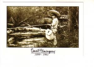 Ernest Hemingway B&W Series, Fishing When He Was A Boy