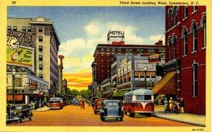 NY - Jamestown. Third Street looking West