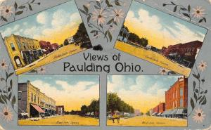 Paulding Ohio~Art Nouveau~The Square From All Four Directions