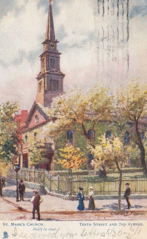 NEW YORK CITY , 1905 ; Trinity Church ; TUCK 2052
