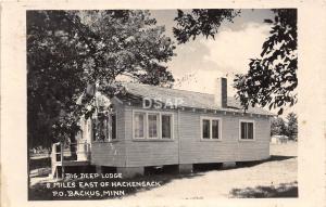 A29/ Backus Minnesota Mn Real Photo RPPC Postcard 1960 Big Deep Lodge Hackensack