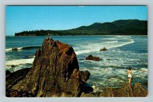 Cape Flattery WA- Washington, Western Most Part of US, Coastline,Chrome Postcard