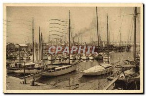 Old Postcard Toulon Rade Boat