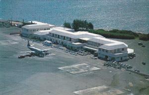 Airplane at airport , FERRY REACH, Bermuda., 1950s