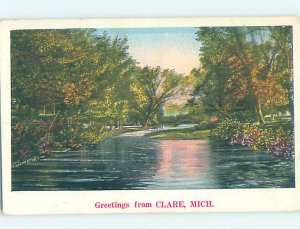 W-border NATURE SCENE Clare - Near Harrison & Mount Pleasant Michigan MI AD7367
