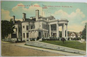 Residence Of S R Dresser Jackson Ave Bradford PA -vintage
