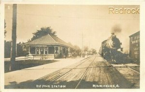 OH, Miamisburg, Ohio, Big Four Station, Railroad Depot, RPPC