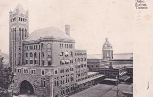 Union Station Toronto Stunning Overhead Old Postcard
