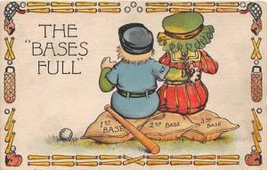 GD & D Series 5017, Baseball, Base Ball Comic Old Vintage Antique Postcard P...