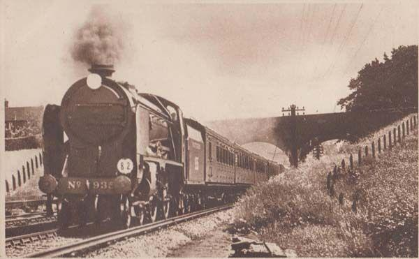 Hastings Express Train Antique Railway London Photochrom Railways Postcard