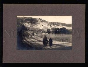 040177 Palestine Jerusalem view Vintage paint photo