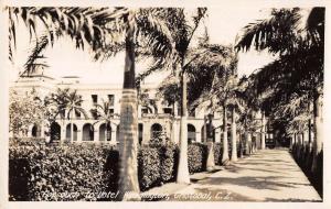 Cristobal Colon Panama approach to Hotel Washington real photo pc Y15556