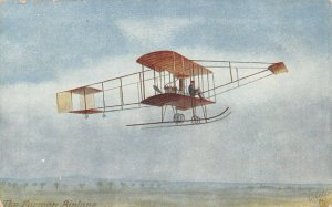 LP76     Aviation  Airplane  Vintage Postcard Tuck Farman Biplane