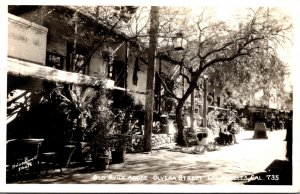 California Los Angeles Olvera Street Old Avila Adobe Real Photo
