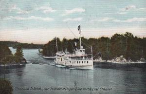 1000 Islands , Ontario , Canada , 1910 ; Steamer ISLANDER , Lost Channel