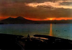 Italy Napoli Vesuvio From Mergellina At Dawn