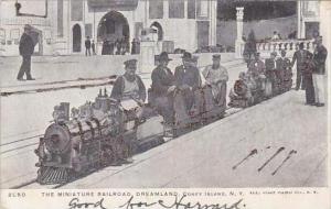 New York Coney Island Miniature Railroad In Dreamland 1905