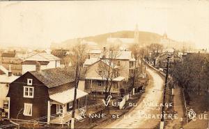 Village Sainte-Anne-de-la-Pocatière Quebec Canada Dirt Street View RPPC