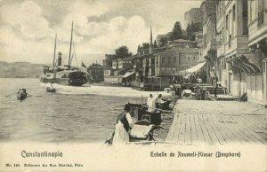 turkey, CONSTANTINOPLE, Echelle de Roumeli-Hasar, Bosphore (1899) Postcard