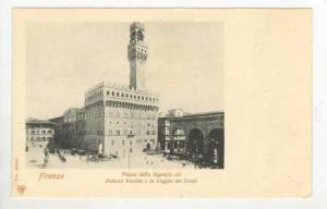 Palazzo Vecchio e la Loggia dei Lanzi, Firenze (Tuscany), Italy, 1900-1910s