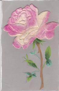 Embossed, Silk Pink Rose, PU-1906