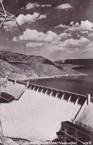 Washington Grand Coulee Dam Spillways Real Photo RPPC