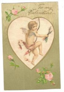 Archery; Valentine Cherub with Bow & arrow , PU-1908
