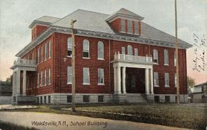 Woodsville New Hampshire~School Building~Ethel Joined Parents~Burial Church~1907