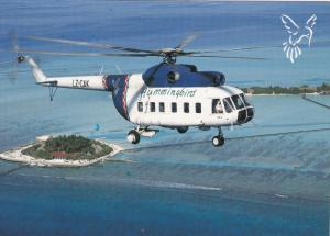 Hummingbird Airlines Helicopter , MALDIVES , 80-90s