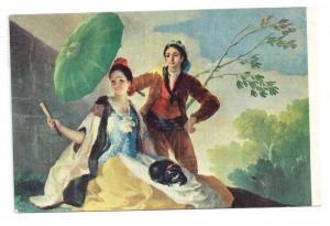 Goya El Quitasol Parasol Museo Del Prado 4X6 Art Postcard