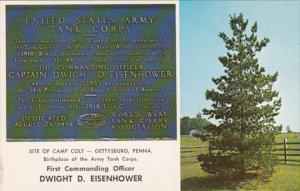 Military Memorial U S Army Tank Corps Camp Colt Gettysburg Pennsylvania Dwigh...