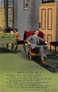 Songs: Baby's Letter No. 3 As Daddy dozes - that letter so dear, father, child