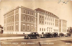 B32/ Lincoln Nebraska University Ne Real Photo RPPC Postcard 1942 Student Union