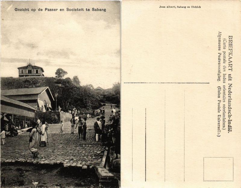 CPA Gezicht op de Passer en Societeit te Sabang. INDONESIA (378736)