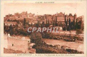 Postcard Old Carcassonne Aude Illustrious La Cite Vue Generale de la Cite (So...